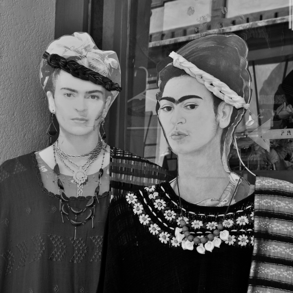 Frida, national icon, reduced to showcasing clothes.