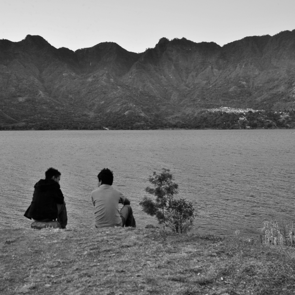 A buddy, a lake, a chat. Peace.