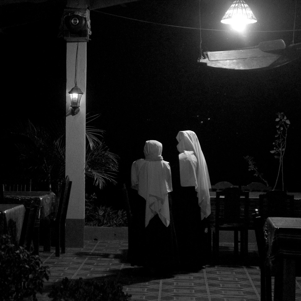 ...so we'll do our evening prayers in a restaurant!