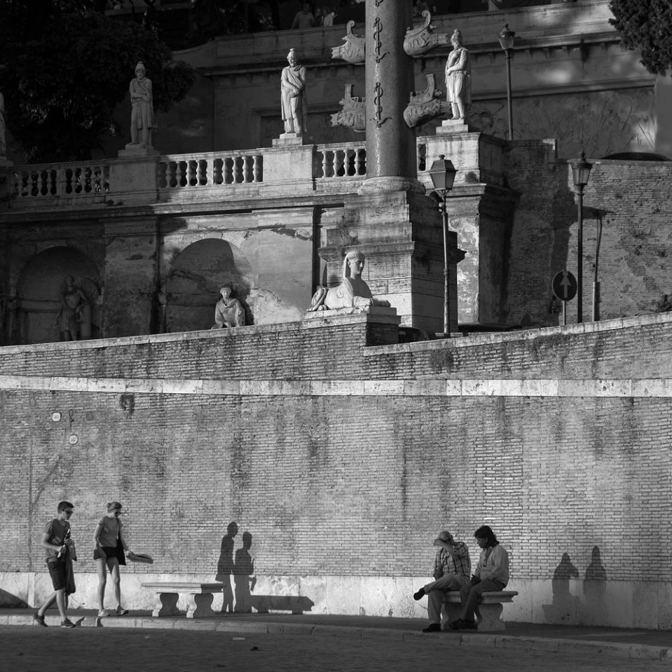 Projections. Piazza del Popolo