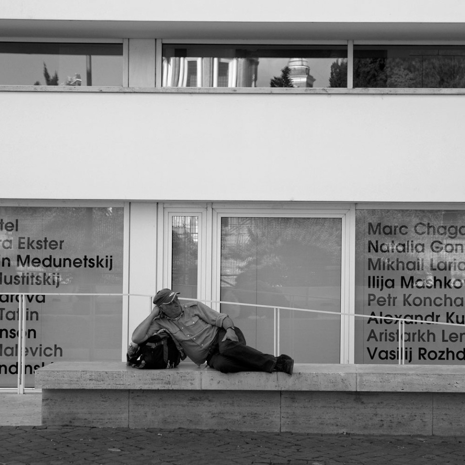 Aptly at peace at the Ara Pacis.