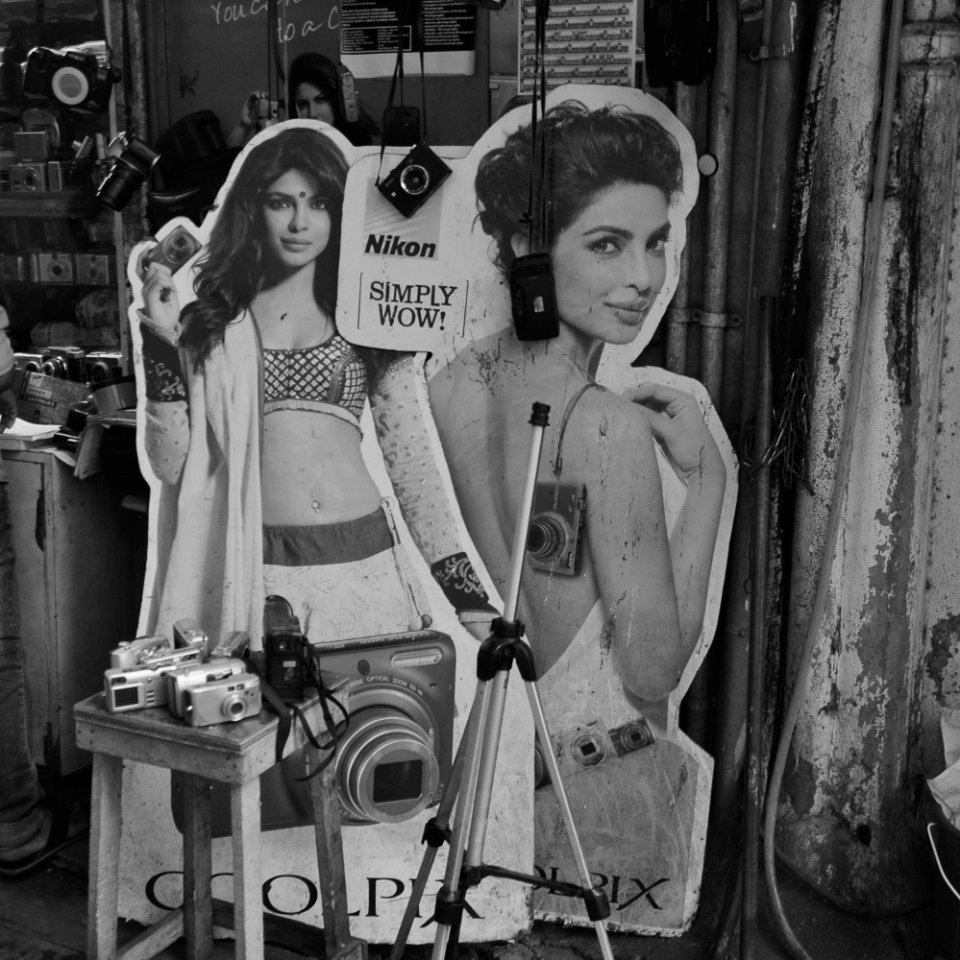 Simply wow! An apt description of Bombay today, on these Nikon cardboard cutouts.