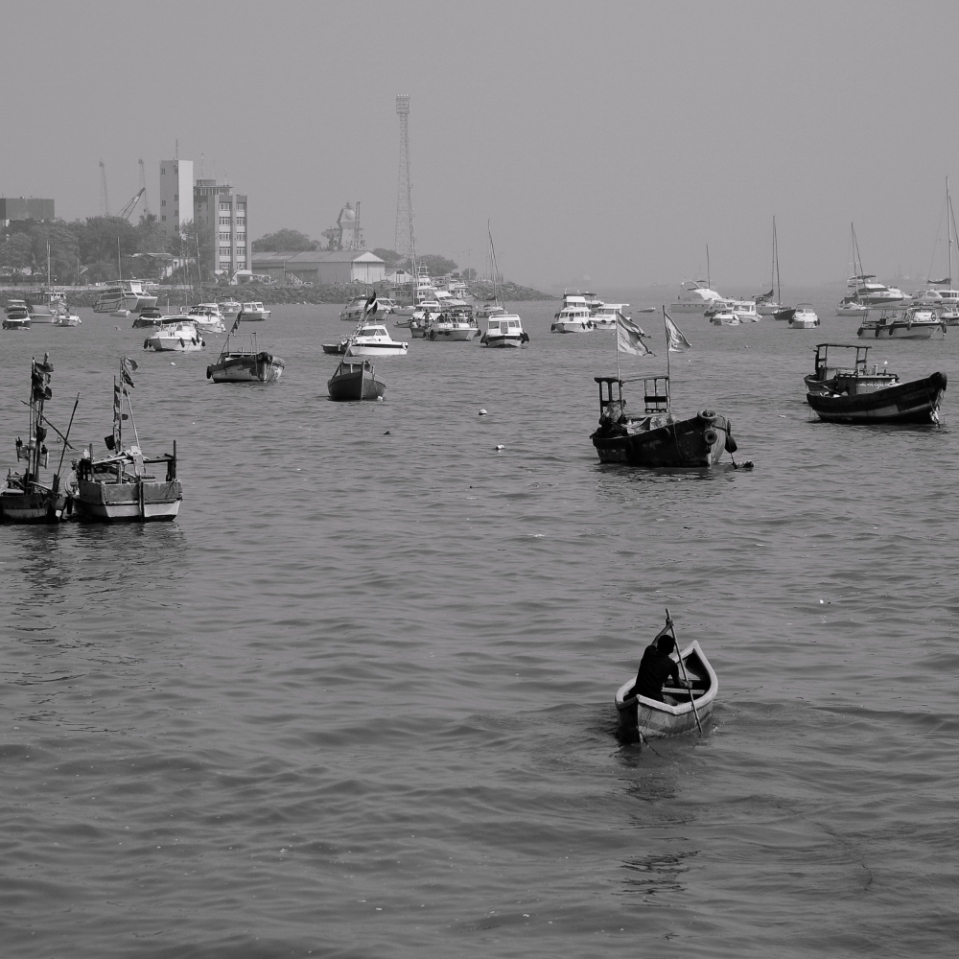 Off for a day's fishing in the warm waters of Mumbai...