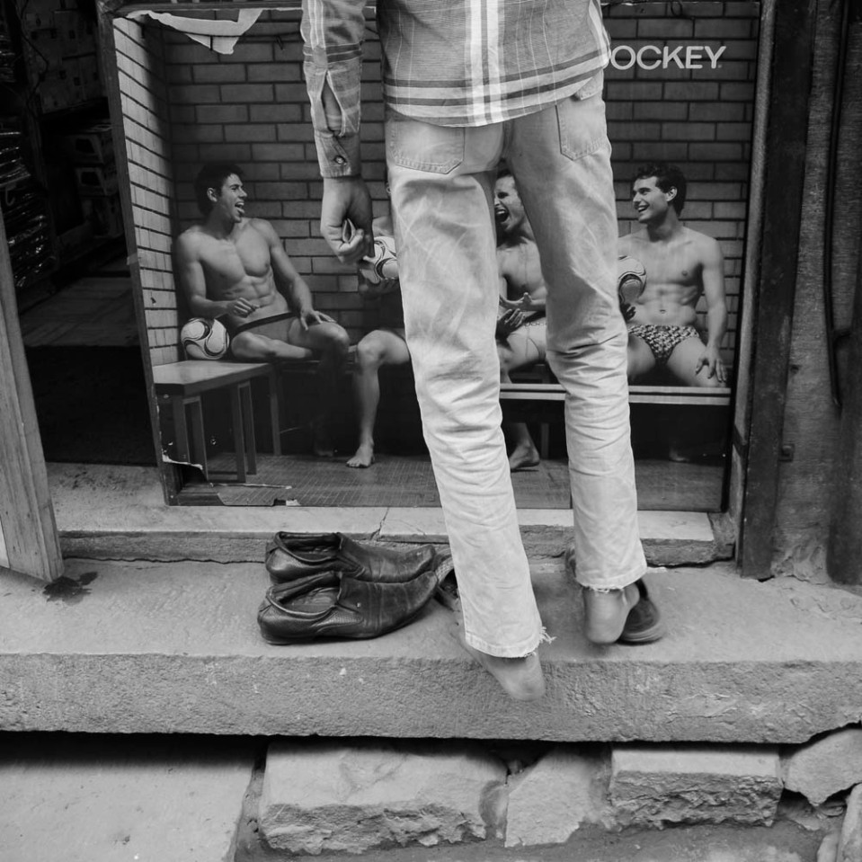 You are always welcome inside a shop. Your shoes, however, stay outside - in good company...