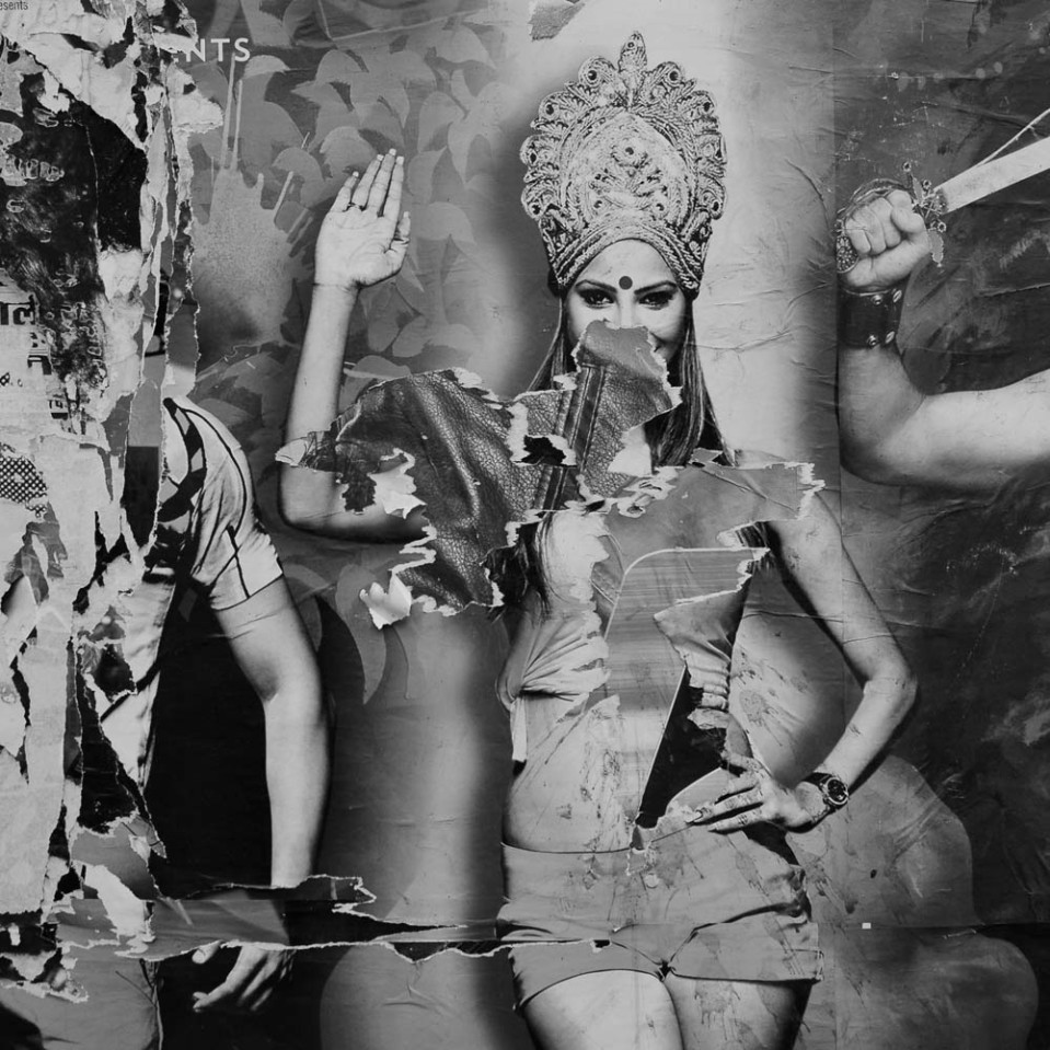 And though it is mostly men with macho moustaches - there are a few scantily-clad Indian ladies to be spotted here and there.