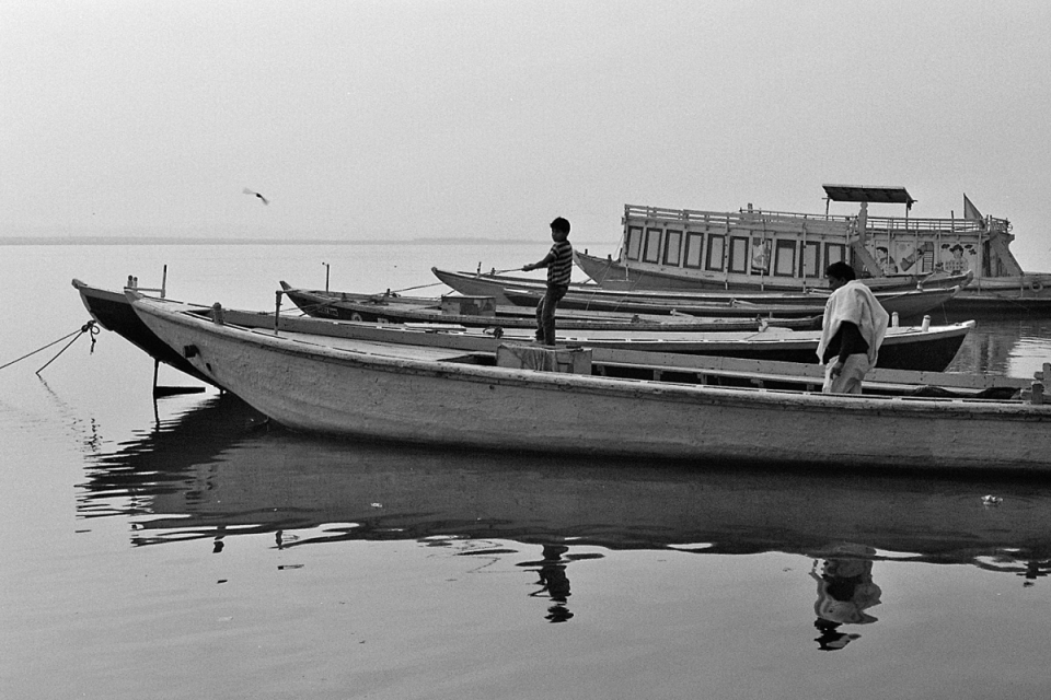 All in all, the boats at Varanasi are born and then die and decay only to be born again. Mostly, though, they work. As do the people, some of whom sleep in them. And when it's morning, the day starts as anywhere else: with a shave, a shower and a good tooth brushing. After all, one of the better things about boats is that they all come with running water...